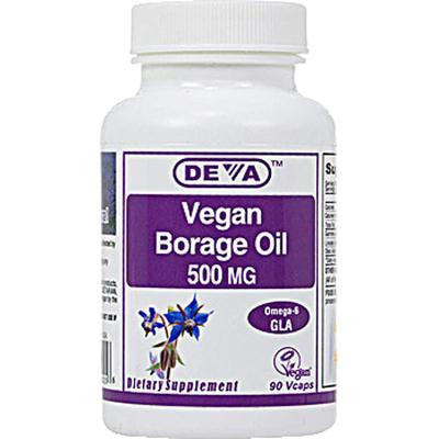 Picture of Deva Vegan Borage Oil - 500 mg - 90 Vcaps
