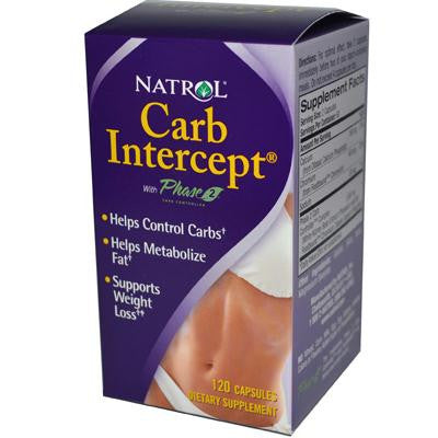 Picture of Natrol Carb Intercept with Phase 2 Starch Neutralizer - 120 Capsules