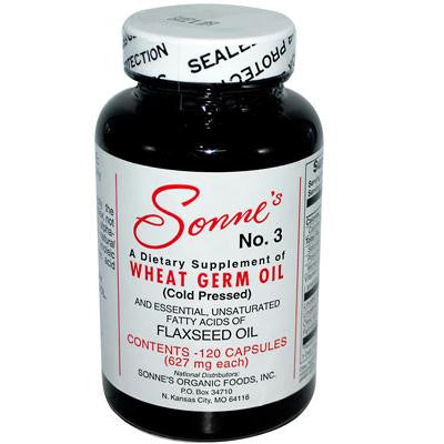 Picture of Sonne's No. 3 Wheat Germ Oil - 627 mg each - 120 Caps