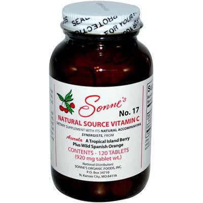 Picture of Sonne's Natural Source Vitamin C No 17 - 120 Tablets