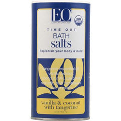 EO Products Bath Salts Time Out Vanilla and Cocount with Tangerine - 22 oz