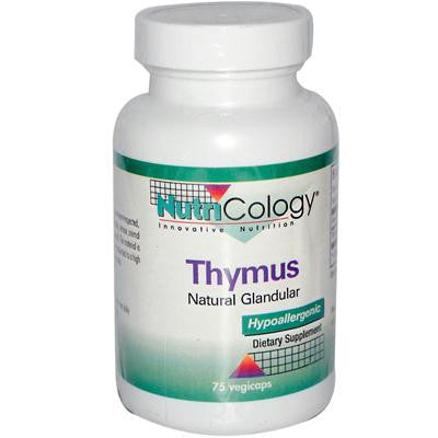 Picture of NutriCology Thymus Natural Glandular - 75 Vegetarian Capsules