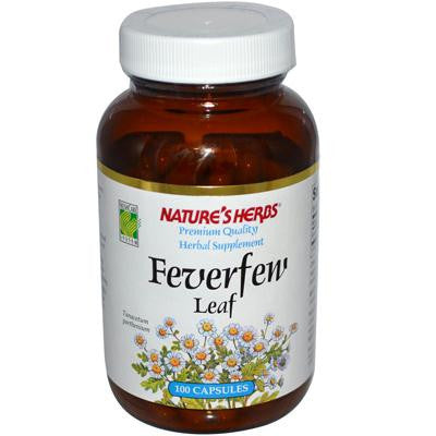 Picture of Nature's Herbs Feverfew Leaf - 384 mg - 100 Capsules