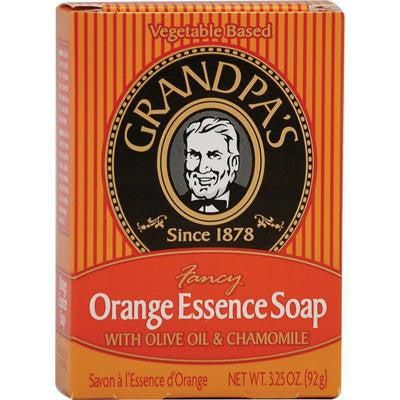 Picture of Grandpa's Orange Essence Bar Soap with Olive Oil and Chamomile - 3.25 oz