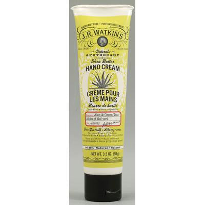 Picture of J.R. Watkins Shea Butter Hand Cream Aloe and Green Tea - 3.3 oz