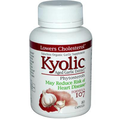 Picture of Kyolic Aged Garlic Extract Phytosterols Formula 107 - 80 Capsules