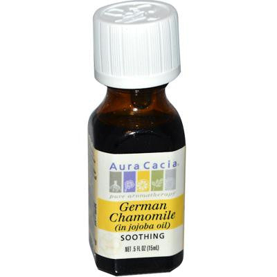 Picture of Aura Cacia German Chamomile in Jojoba Oil - 0.5 fl oz