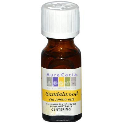 Picture of Aura Cacia Precious Essentials Sandalwood Blended with Jojoba Oil - 0.5 fl oz