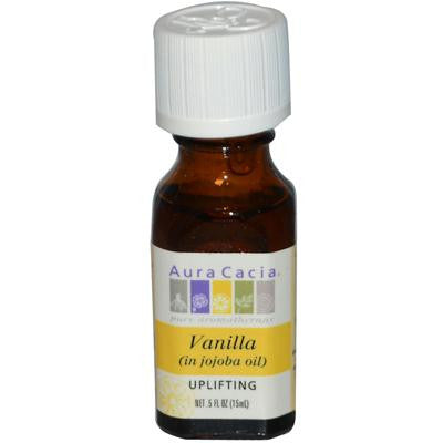 Picture of Aura Cacia Vanilla in Jojoba Oil - 0.5 fl oz