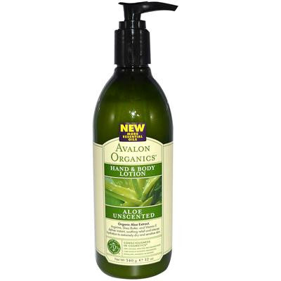 Picture of Avalon Organics Hand and Body Lotion Aloe Unscented - 12 fl oz