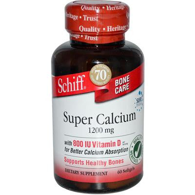 Picture of Schiff Natural Super Calcium 1200 with Vitamin D - 60 Softgels