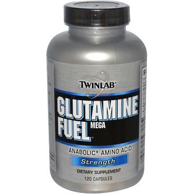 Picture of Twinlab Glutamine Fuel Mega Anabolic Amino Acid Strength - 120 Caps