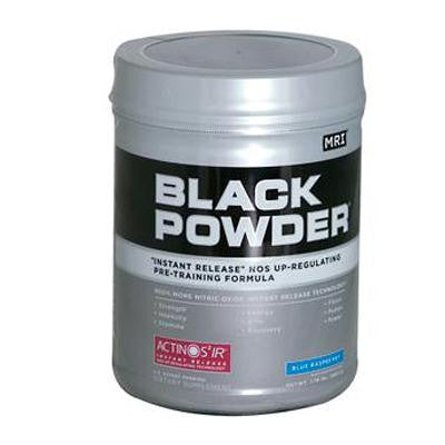 Picture of MRI Black Powder Pre-Training Formula Blue Raspberry - 1.7 lbs