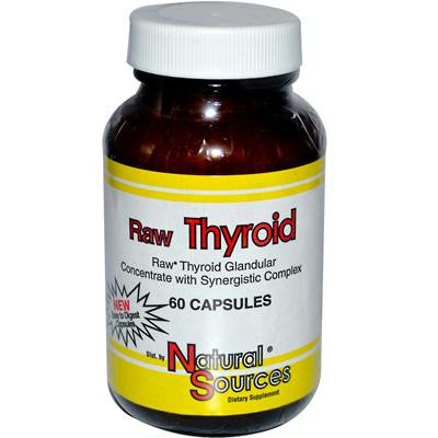 Picture of Natural Sources Raw Thyroid - 60 Tablets