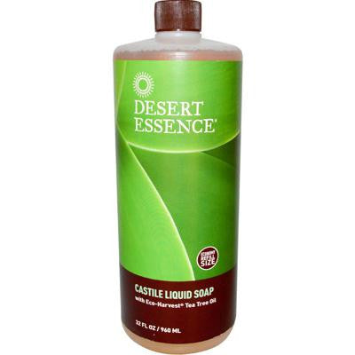 Picture of Desert Essence Castile Liquid Soap with Eco-Harvest Tea Tree Oil - 32 fl oz
