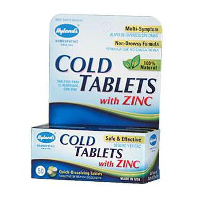 Picture of Hyland's Cold Tablets With Zinc - 50 Quick Disolving Tabl