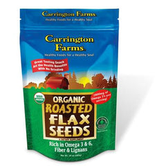 Carrington Farms Flax Seed - Roasted Organic - Case of 6 - 10 oz