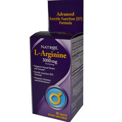 Picture of Natrol L-Arginine - 3000 mg - 90 Tablets