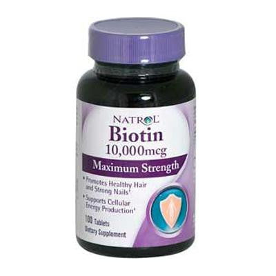 Picture of Natrol Biotin - 10000 mcg - 100 Tablets