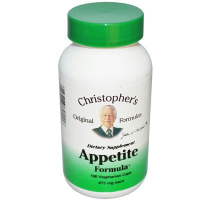 Picture of Christopher's Appetite Formula - 475 mg - 100 Vegetarian Capsules