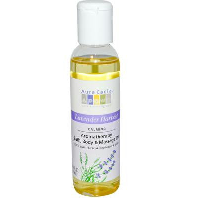 Picture of Aura Cacia Aromatherapy Body Oil Lavender Harvest - 4 fl oz