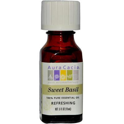 Picture of Aura Cacia Pure Essential Oil Sweet Basil - 0.5 fl oz