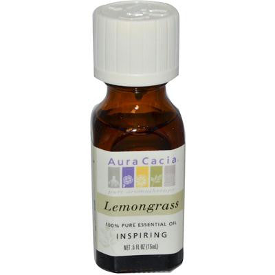 Picture of Aura Cacia Pure Essential Oil Lemongrass - 0.5 fl oz