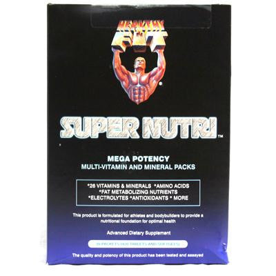 Picture of Healthy 'N Fit Nutritionals Super Nutri Mega Potency Multi-Vitamin and Mineral Packs - 30 Packets