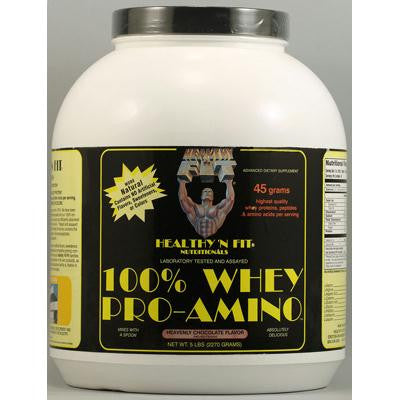 Picture of Healthy 'N Fit Nutritionals Whey Pro-Amino Heavenly Chocolate - 5 lbs