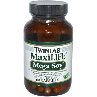 Picture of Twinlab MaxLIFE Mega Soy - 200 mg - 60 Capsules