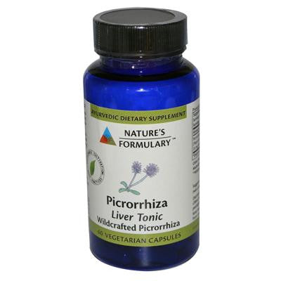 Picture of Nature's Formulary Picrorrhiza - 60 Vegetarian Capsules