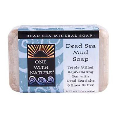 Picture of One With Nature Dead Sea Mineral Dead Sea Mud Soap - 7 oz