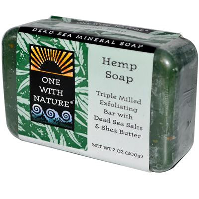 Picture of One With Nature Dead Sea Mineral Hemp Soap - 7 oz