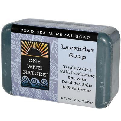 Picture of One With Nature Dead Sea Mineral Soap Lavender - 7 oz