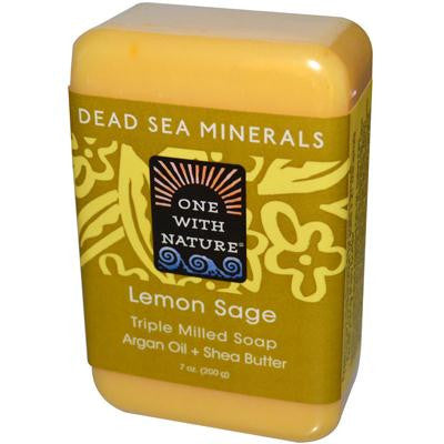 Picture of One With Nature Dead Sea Mineral Lemon Verbena Soap - 7 oz
