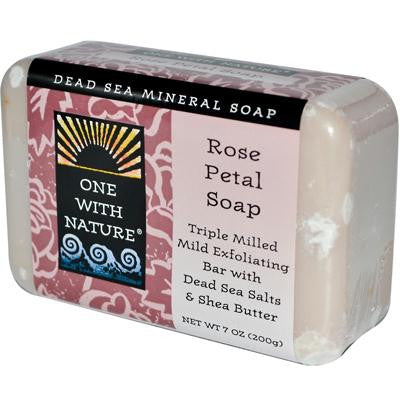 Picture of One With Nature Dead Sea Mineral Rose Petal Soap - 7 oz
