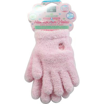 Picture of Earth Therapeutics Aloe Moisture Gloves Pink - 1 Pair