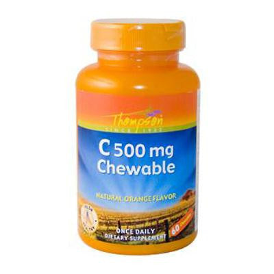 Picture of Thompson Vitamin C - 500 mg - 60 Chewables