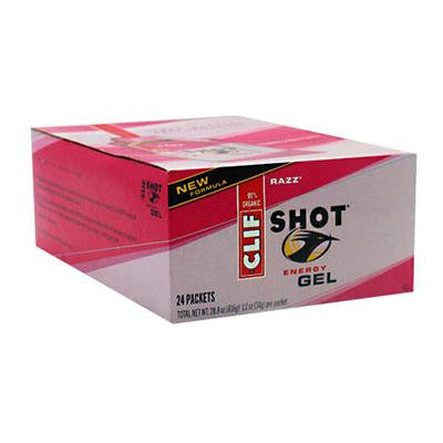 Picture of Clif Bar Clif Shot - Organic Razz - Case of 24 - 1.2 oz