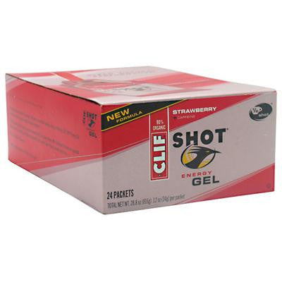 Picture of Clif Bar Clif Shot - Organic Strawberry - Case of 24 - 1.2 oz