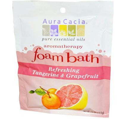 Picture of Aura Cacia Foam Bath Refeshing Tangerine and Grapefruit - 2.5 oz - Case of 6