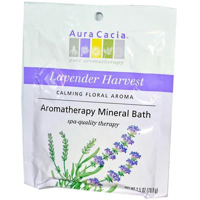 Picture of Aura Cacia Aromatherapy Mineral Bath Lavender Harvest - 2.5 oz - Case of 6