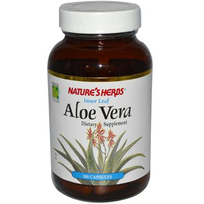 Picture of Nature's Herbs Aloe Vera Innerleaf - 250 mg - 100 Capsules