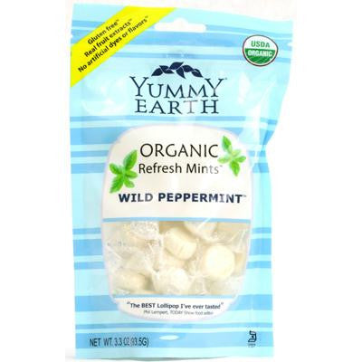 Picture of Yummy Earth Organic Candy Drops Wild Peppermint - 3.3 oz - Case of 6