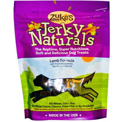 Picture of Zuke's Jerky Naturals For Dogs Lamb Formula - 6 oz