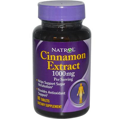 Picture of Natrol Cinnamon Extract - 1000 mg - 80 Tablets