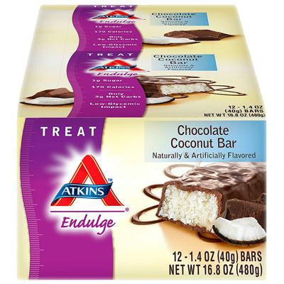 Picture of Atkins Endulge Bar Chocolate Coconut - 12 Bars - Case of 12