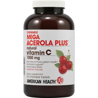 Picture of American Health Mega Acerola Plus Chewable Natural Berry - 60 Chewable Wafers