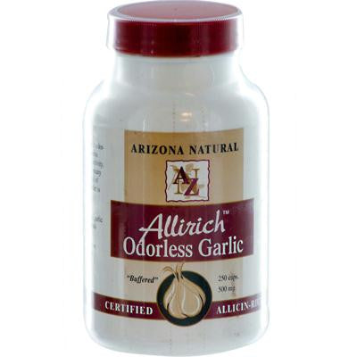 Picture of Arizona Natural Resource Allirich Odorless Garlic - 500 mg - 250 Capsules