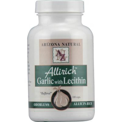 Picture of Arizona Natural Resource Allrich Odorless Garlic with Lecithin - 100 Capsules